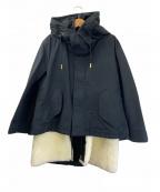 THE RERACS(ザ リラクス)の古着「ライナー付ショートモッズコート M-65」|ブラック