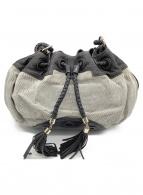 ANYA HINDMARCH(アニヤハインドマーチ)の古着「ワンショルダーバッグ」 ブラック×グレー