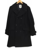 FIDELITY(フィデリティ)の古着「メルトンステンカラーコート」|ネイビー