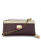 COCOCELUX GOLD(ココセリュックスゴールド)の古着「ラウンドファスナー財布」|ワインレッド×グレー