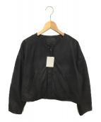 The Dayz tokyo(ザ デイズ トウキョウ)の古着「ラムレザーノーカラージャケット」|ブラック