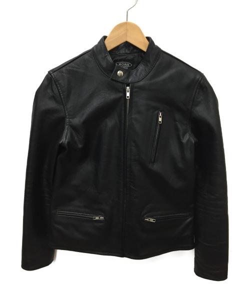 HORN WORKS(ホーンワークス)HORN WORKS (ホーンワークス) シングルライダースジャケット ブラック サイズ:SIZE 2の古着・服飾アイテム