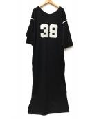 INSCRIRE(アンスクリア)の古着「フットボールシャツワンピ」|ブラック