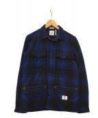 ()の古着「ウールジャケット」|ブルー
