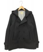 BEAUTY&YOUTH(ビューティーアンドユース)の古着「フーデッドメルトンPコート」|グレー