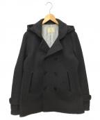 BEAUTY&YOUTH()の古着「フーデッドメルトンPコート」|グレー
