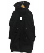 Details(ディテールズ)の古着「ドルマンモッズコート」|ブラック
