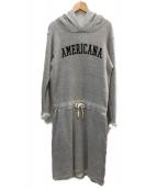 Americana(アメリカーナ)の古着「パーカーワンピース」|グレー