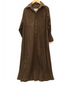 BLUEBIRD BOULEVARD(ブルーバードブルバード)の古着「Marisol別注徳原文子コラボシャツドレス」 ブラウン