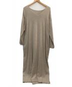 patterntorso(パターントルソー)の古着「ロングニットワンピース」|ベージュ