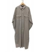 patterntorso(パターントルソー)の古着「ワイドシャツワンピース」|ベージュ
