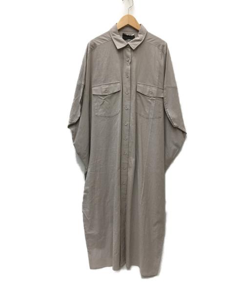 patterntorso(パターントルソー)patterntorso (パターントルソー) ワイドシャツワンピース ベージュ サイズ:SIZE FREE 未使用品の古着・服飾アイテム