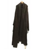KINU(KINU)の古着「鹿の子編みケーブルニットカーデ」 ブラウン