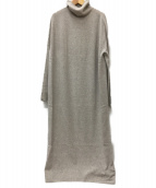 VERMEIL par iena(ヴェルメイユ パー イエナ)の古着「ハイネックロングワンピース」|グレー