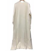 Plage(プラージュ)の古着「semi flareニットワンピースRe2」|ホワイト