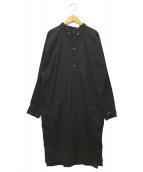 aquagirl(アクアガール)の古着「AmericanaサイドジップシャツOP」|ブラック