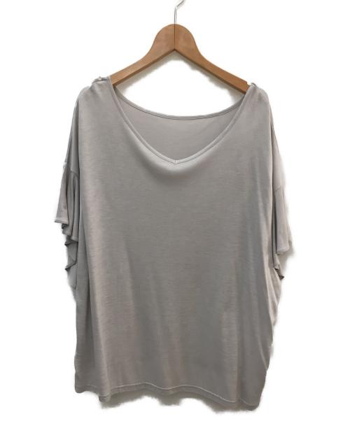 URBAN RESEARCH(アーバンリサーチ)URBAN RESEARCH (アーバンリサーチ) フリルスリーブカットソー グレー サイズ:SIZE ONE 未使用品の古着・服飾アイテム