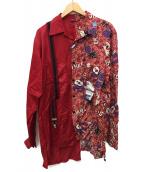 Maison MIHARA YASUHIRO(メゾンミハラヤスヒロ)の古着「サスペンダーミックスシャツ」|レッド