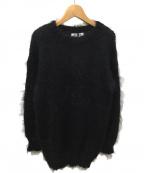 BLACK by moussy(ブラックバイマウジー)の古着「シャギーニット」 ブラック