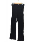 JOURNAL STANDARD(ジャーナルスタンダード)の古着「フロストコットンリブパンツ」 ブラック