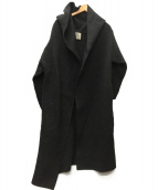 ADAWAS(アダワス)の古着「エアリースポンディッシュフーディーカーディガン」 チャコールグレー