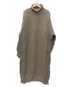 SLOBE IENA(スローブイエナ)の古着「TRICOTS JEANMARC別注ニットロングOP」|ベージュ