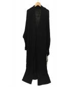 KINU(KINU)の古着「柄編みニットロングカーデ」