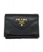 PRADA(プラダ)の古着「3つ折り財布」|ブラック