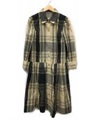 MS GRACY(エムズグレイシー)の古着「シャツワンピース」|ベージュ×ブラック