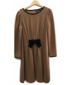 MS GRACY(エムズグレイシー)の古着「ウールワンピース」|ベージュ