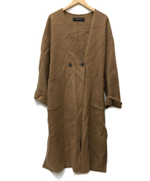 JOURNAL STANDARD(ジャーナルスタンダード)JOURNAL STANDARD (ジャーナルスタンダード) ガウンコート ブラウン(ベージュ記載) サイズ:SIZE FREE 未使用品の古着・服飾アイテム