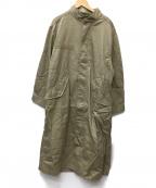 Ungrid(アングリッド)の古着「スタンドカラーコート」 カーキ