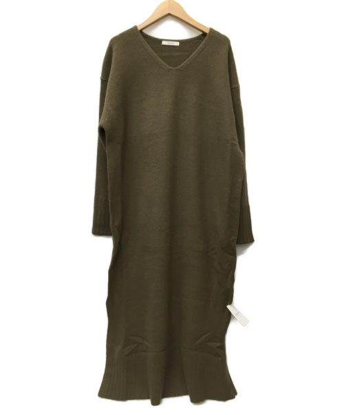 JOURNAL STANDARD(ジャーナルスタンダード)JOURNAL STANDARD (ジャーナルスタンダード) ニットワンピース カーキ サイズ:SIZE FREE 未使用品の古着・服飾アイテム