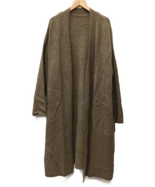 JOURNAL STANDARD LUXE(ジャーナルスタンダードラックス)JOURNAL STANDARD LUXE (ジャーナルスタンダードラックス) エアリーカーディガン ブラウン サイズ:SIZE FREE 未使用品の古着・服飾アイテム