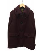FIDELITY(フィデリティ)の古着「ウールコート」|パープル