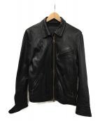 JACKROSE(ジャックローズ)の古着「シングルライダースジャケット」|ブラック