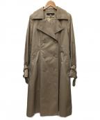 MICHEL KLEIN(ミッシェルクラン)の古着「ベルテッドコート」|ベージュ