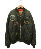 AVIREX(アヴィレックス)の古着「MA-1ジャケット」|オリーブ