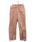 RAY BEAMS(レイビームス)の古着「カラーデニムスリットパンツ」|ピンク
