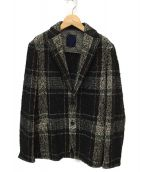 altea cooper(altea cooper)の古着「ウールシルク混ジャケット」|ブラック×ホワイト