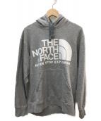THE NORTH FACE(ザノースフェイス)の古着「ロゴプルオーバーパーカー」|グレー