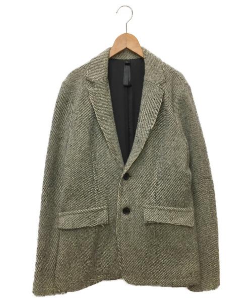 wjk(ダブルジェイケー)wjk (ダブルジェイケイ) ツイードワイヤージャケット グレー サイズ:SIZE Lの古着・服飾アイテム