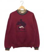 DISNEY()の古着「90s 刺繍スウェット」|パープル