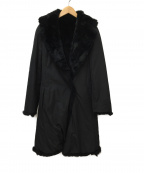 STRAWBERRY FIELDS()の古着「ラビットファーロングコート」 ブラック