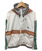 CHUMS(チャムス)の古着「ナイロンジャケット」 ホワイト×グレー