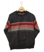 THE NORTH FACE(ザノースフェイス)の古着「ウィンドストッパーテックセーター」 ネイビー×レッド