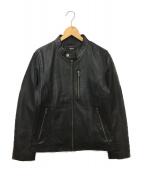 safari homme(サファリオム)の古着「ラムレザージャケット」|ブラック