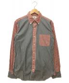BROOKS BROTHERS(ブルックスブラザーズ)の古着「ストライプシャツ」|レッド×ブラック