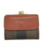 FENDI()の古着「3つ折り財布」|ブラウン×ブラック