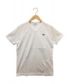 LACOSTE(ラコステ)の古着「VネックTシャツ」|ホワイト